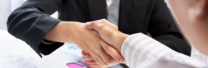 Caring Approach To Consumer Proposal Shaking Hands Image - Credit Management Services
