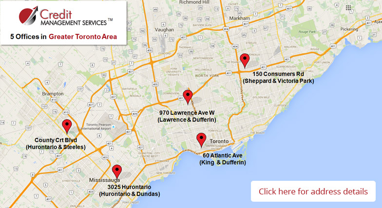 Map Image For Bankruptcy Management Company - Credit Management Services